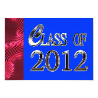 "Class Of 2012 Patriotic Graduation Invitations 3.5"" X 5"" Invitation Card"