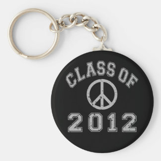 Class Of 2012 Peace - Grey 2 Basic Round Button Key Ring