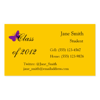Class of 2012 - Purple and Gold Business Card