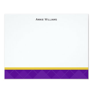 Class of 2012 Purple and Gold Graduation Thank You 11 Cm X 14 Cm Invitation Card