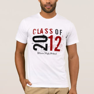 Class of 2012 Red / Black (enter school's name) T-Shirt