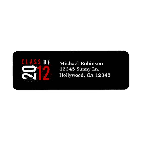 Class of 2012 Red / White Return Labels