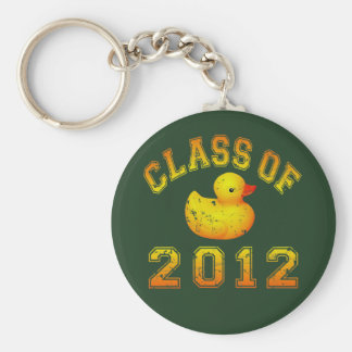 Class Of 2012 Rubber Duckie - Yellow/Orange Keychains