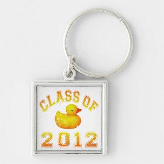 Class Of 2012 Rubber Duckie - Yellow/Orange Key Chain
