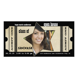 Class of 2012 Senior Graduation Invitation & Gifts Photo Card