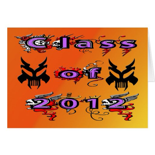 Class of 2012 - Skulls Card