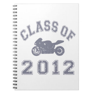 Class Of 2012 Superbike - Grey 2 Spiral Note Book