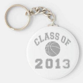 Class Of 2013 Basketball - Grey 2 Basic Round Button Key Ring