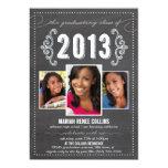 Class of 2013 Chalkboard Graduation Photo Invite