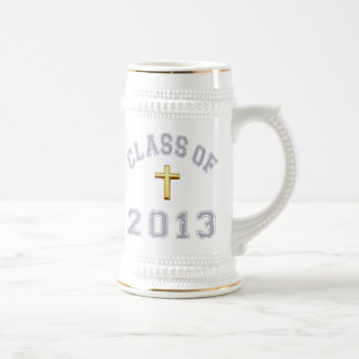 Class Of 2013 Christian Cross - Grey 2 Beer Steins
