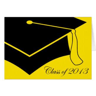 class of 2013 graduation cap note card