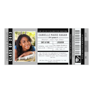 Class of 2013 Graduation VIP Admission Ticket 10 Cm X 24 Cm Invitation Card