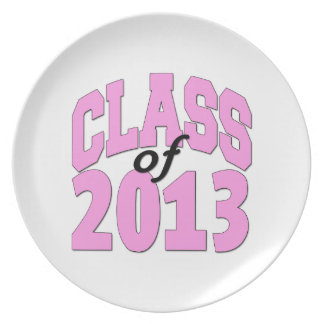 Class of 2013 Pink Dinner Plates
