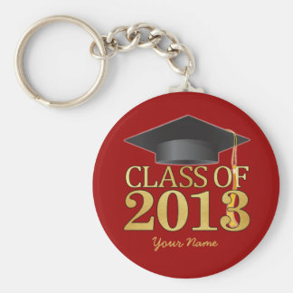 Class of 2013 Red & Gold Graduation Key Ring