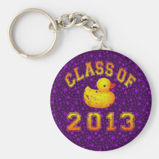 Class Of 2013 Rubber Duckie - Yellow/Orange Keychains