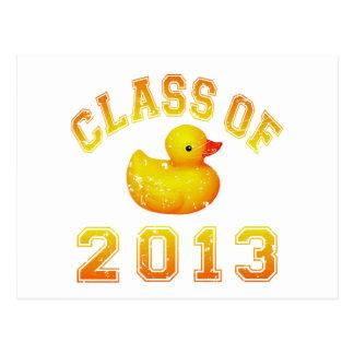 Class Of 2013 Rubber Duckie - Yellow/Orange Postcard