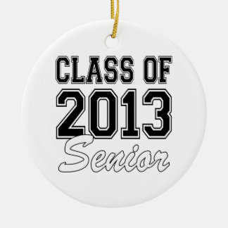 Class of 2013 Senior Round Ceramic Decoration