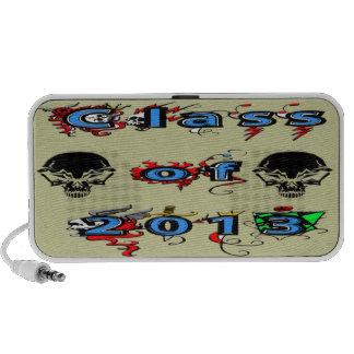 Class of 2013- Skulls Doodle Mini Speakers