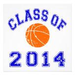 Class Of 2014 Basketball - Orange/Navy 2 Invitation