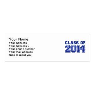Class of 2014 business card