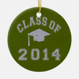 Class Of 2014 Graduation - Grey Round Ceramic Decoration