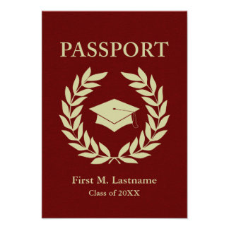 class of 2014 graduation passport personalized announcement
