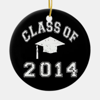 Class Of 2014 Graduation Round Ceramic Decoration