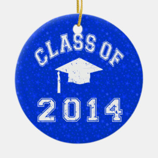Class Of 2014 Graduation Round Ceramic Decoration