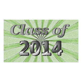 Class of 2014 Green and Silver Pack Of Standard Business Cards