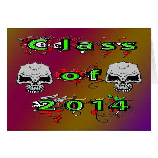 Class of 2014 - Skulls Greeting Cards