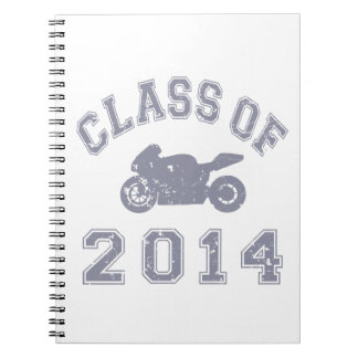 Class Of 2014 Superbike - Grey 2 Spiral Note Book