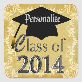 Class Of 2014 Vintage Border Graduation Stickers
