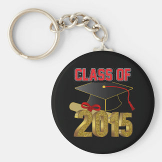 "Class of 2015 2.25"" Basic Button Keychain"