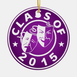 Class Of 2015 Drama Round Ceramic Decoration