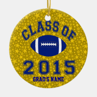 Class of 2015 Football Ceramic Ornament
