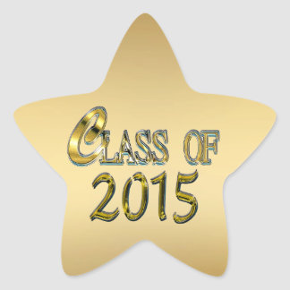 Class Of 2015 Gold Star Seals And Stickers
