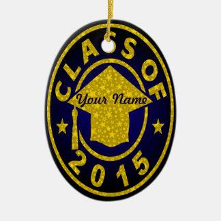Class Of 2015 Graduation Ceramic Oval Decoration
