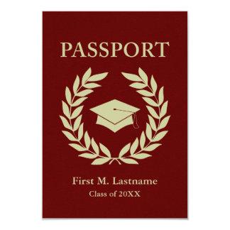 class of 2015 graduation passport 9 cm x 13 cm invitation card