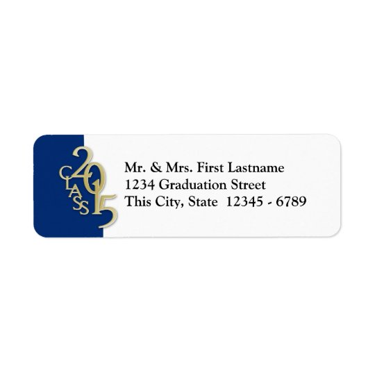 Class of 2015 Graduation Return Address Label