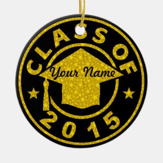 Class Of 2015 Graduation Round Ceramic Decoration