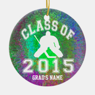 Class Of 2015 Hockey Round Ceramic Decoration