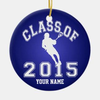 Class Of 2015 Lacrosse Round Ceramic Decoration