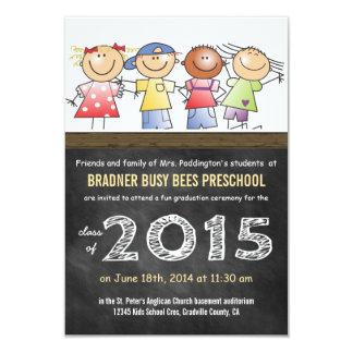 Class of 2015 Little Cartoon Children Preschool 9 Cm X 13 Cm Invitation Card