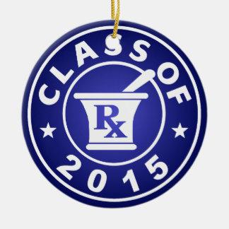 Class Of 2015 Pharmacy Round Ceramic Decoration