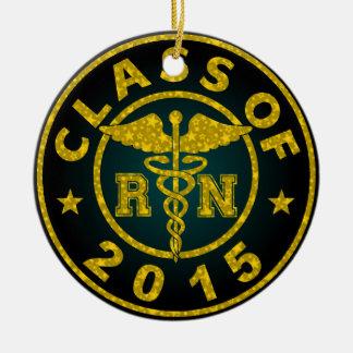 Class Of 2015 RN Round Ceramic Decoration