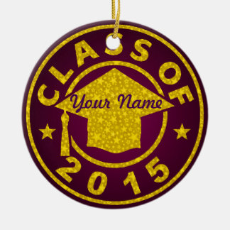 Class Of 2015 Round Ceramic Decoration