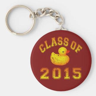 Class Of 2015 Rubber Duckie - Orange 2 Key Chain
