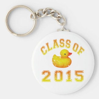 Class Of 2015 Rubber Duckie - Orange 2 Basic Round Button Key Ring