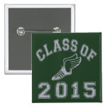 Class Of 2015 Track & Field - Grey 2 Pinback Buttons