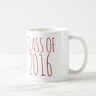 Class of 2016 basic white mug